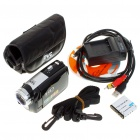 5.0MP CMOS 720P HD Digital Video Camcorder w/ 16X Digital Zoom/USB/AV/SD - Black (3.0&quot; LCD)
