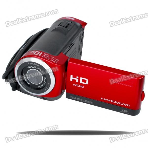 5.0MP CMOS Digital Video Camcorder w/ 4X Digital Zoom/USB/AV/SD - Red (2.4 TFT LCD) 5 0mp digital video camcorder w 4x digital zoom motion detection hdmi sd slot 2 5 tft lcd