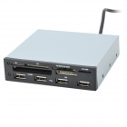 "3.5"" Front Chassis Bay Embedded SDHC MS/SD/MMC/TF/M2 Card Reader with 4-USB Port"