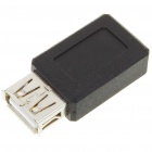 USB A Female to Mini USB 5-Pin Female Adapter Converter - Black (2PCS)