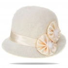 Charming Warm Wool Cap Hat - White