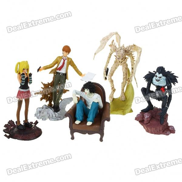 Death Note Collection Resin Anime Figures (5-Figure Set) sosw fashion anime theme death note cosplay notebook new school large writing journal 20 5cm 14 5cm