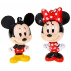 Cute Valentines' Kiss & Close Eyes Mickey Mouse Keychains (2-Piece Set)