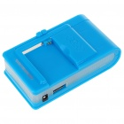 Universal Cell Phone Lithium Battery Charger with USB Power Port - Blue (Flat Plug/220V)