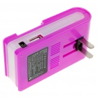 Universal Cell Phone Lithium Battery Charger with USB Power Port - Purple (Flat Plug/220V)