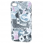 Elegant Protective Back Case with Screen Protector Set for Iphone 4 - Women Pattern