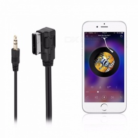 100cm Car Music Interface MMI MDI AMI To 3.5mm Jack Aux MP3 Audio Cable For VW, Audi Q7 Q5 A8 A6L A5 A4 Black