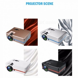 Portable Projector LED 2000 Lumens Home Cinema Bluetooth Digital Projector white