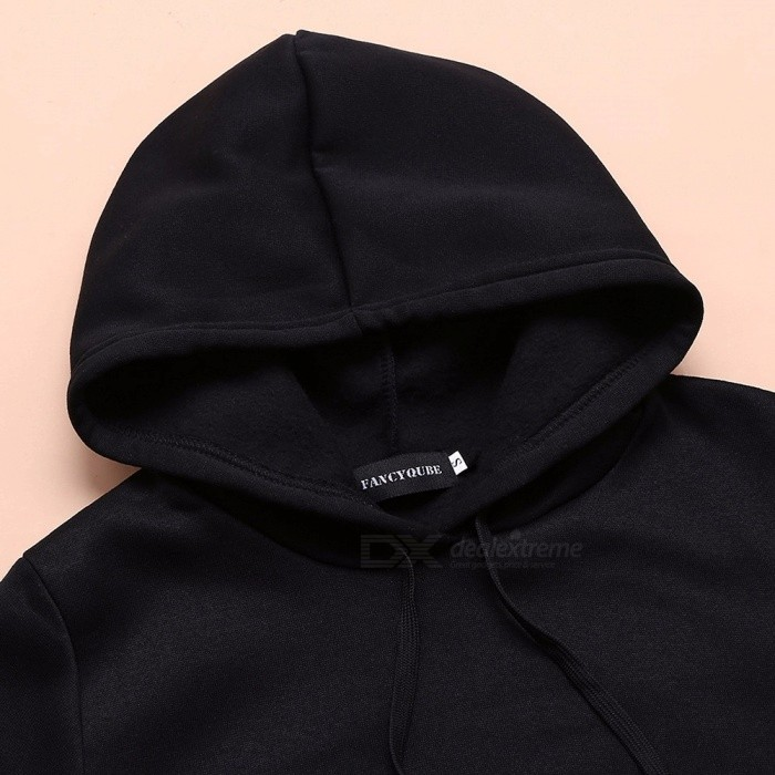 7cf8a23bd Queen 09 Letter Print Couple Lovers Hoodies Pullovers Casual Womens  Sweatshirts Tracksuit-Women Black / M
