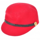 Fashion Wool Knitted Cap/Hat - Red (Size 56~59 cm)