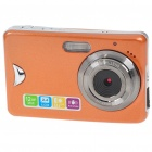 "5.0MP CMOS Compact Digital Video Camera with 8X Digital Zoom/USB/SD - Orange (2.4"" TFT LCD)"