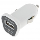 Mini Car Cigarette Powered 1000mA USB Adapter/Charger - White (DC 12~24V)