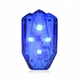 Bicycle Light Rechargeable LED Taillight USB Rear Tail Safety Warning Cycling Light Portable Flash Light Blue