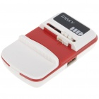 Universal Cell Phone Lithium Battery Charger with USB Power Port - Red + White (Flat Plug/110~240V)