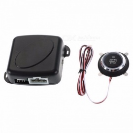 Auto Car Alarm Engine Push Button Start Stop RFID Lock Switch Keyless Entry System Starter Anti-theft