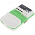 Universal Cell Phone Lithium Battery Charger w/ USB Power Port - Green+White (Flat Plug/110~240V)
