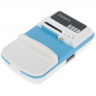 Universal Cell Phone Lithium Battery Charger w/ USB Power Port - Blue+White (Flat Plug/110~240V)