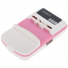Universal Cell Phone Lithium Battery Charger w/ USB Power Port - Pink+White (Flat Plug/110~240V)