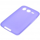 Protective PVC Backside Case w/ Screen Guards + Cleaning Cloth + Stylus for HTC Desire HD - Purple