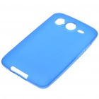 Protective PVC Backside Case w/ Screen Guards + Cleaning Cloth + Stylus for HTC Desire HD - Blue