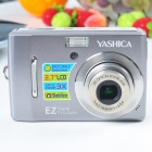 YASHICA 10.0MP CMOS Compact Digital Video Camera w/ 3X Optical Zoom/SD Slot - Grey (2.7