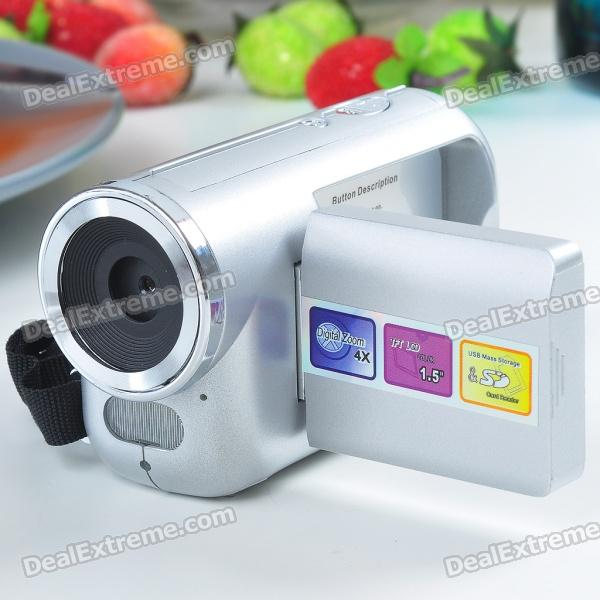 "Mini 1.3MP CMOS Digital Video-Kamera mit 4fach digitaler Zoom / USB / SD / MMC / AV-Out Slot (1,3 ""TFT LCD)"