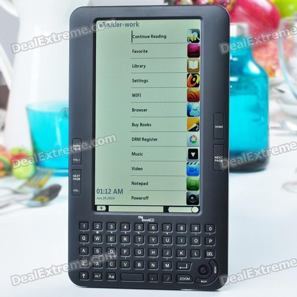 "7.0"" TFT LCD Linux E-Book Reader Music/Video Media Player w/ WiFi/SD - Black (ARM9 400MHz/4GB)"