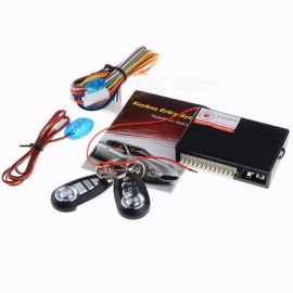 Universal Car Auto Remote Central Kit Door Lock Vehicle Keyless Entry System With Remote Controllers Burglar Alarm