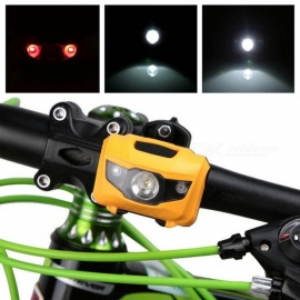 LED Bicycle Light Bike Cycling Accessories ABS Head Tail Taillight MTB Bike Front Rear Light Warning Lights Flashlight Yellow
