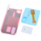 Unique Back Case + Sim Card Converter + Card Eject Pin + Screen Guard Full Set for Iphone 4 - Pink