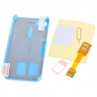 Unique Back Case + Sim Card Converter + Card Eject Pin + Screen Guard Full Set for Iphone 4 - Blue