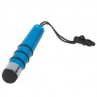 Universal Bullet Shaped Capacitive Screen Stylus Pen with Strap - Blue