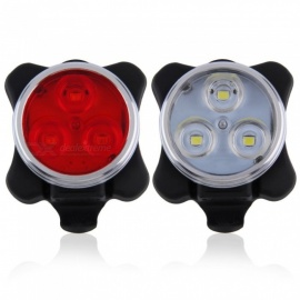 Built-in Battery Bicycle Tail Lights 4 Modes Rechargeable USB LED Bike Light Flashlights With Mount Bicycle Accessories White