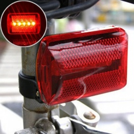 Bicycle 5LED Bicycle Taillights Warning Lights LED Flashlight Bicycle Light