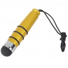 Universal Bullet Shaped Capacitive Screen Stylus Pen with Strap - Yellow