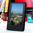 7.0&quot; TFT LCD E-Book Reader Music/Video Media Player w/ Voice Recorder/FM/TF - Black (4GB)