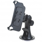 Plastic Car Swivel Mount Holder with Car Charger + Data/Charging Cable for iPhone 4 (DC 12~24V)