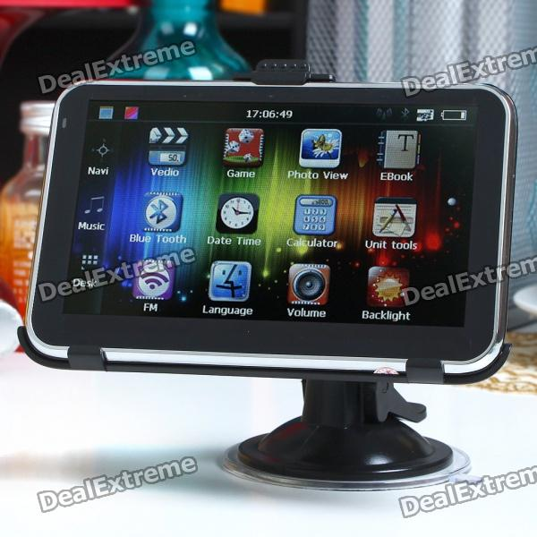 "5.0"" Touch Screen LCD WinCE NET 5.0 GPS Navigator w/ Bluetooth/FM/AV + 4GB USA & Canada Maps TF Card"