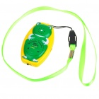 Frog Shaped Ultrasonic Mosquito Repeller with Neck Loop & Hand Strap - Yellow + Green (1*CR2032)