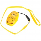Tiger Shaped Ultrasonic Mosquito Repeller with Neck Loop & Hand Strap - Yellow + Orange (1*CR2032)
