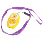 Sheep Shaped Ultrasonic Mosquito Repeller with Neck Loop & Hand Strap - Yellow + White (1*CR2032)