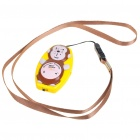 Monkey Shaped Ultrasonic Mosquito Repeller with Neck Loop & Hand Strap - Yellow + Brown (1*CR2032)