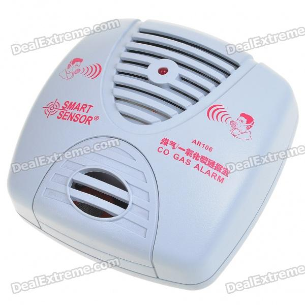 Security Carbon Monoxide Alarm (AC 220V / 2-Flat-Pin Plug)