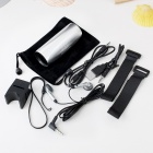 Portable Aluminum Alloy Casing USB Rechargeable TF Slot MP3 Player Speaker with FM - Silver (2 GB)