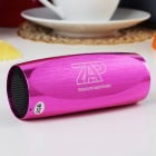Portable Aluminum Alloy Casing USB Rechargeable TF Slot MP3 Player Speaker with FM - Purple (2 GB)