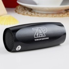 Portable Aluminum Alloy Casing USB Rechargeable TF Slot MP3 Player Speaker with FM - Black (2 GB)