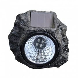 Waterproof LED Panel Solar Stone Style Lawn Lights Outdoor Garden Lamp Creative New Year Christmas Luminaria Decor White/0-5W