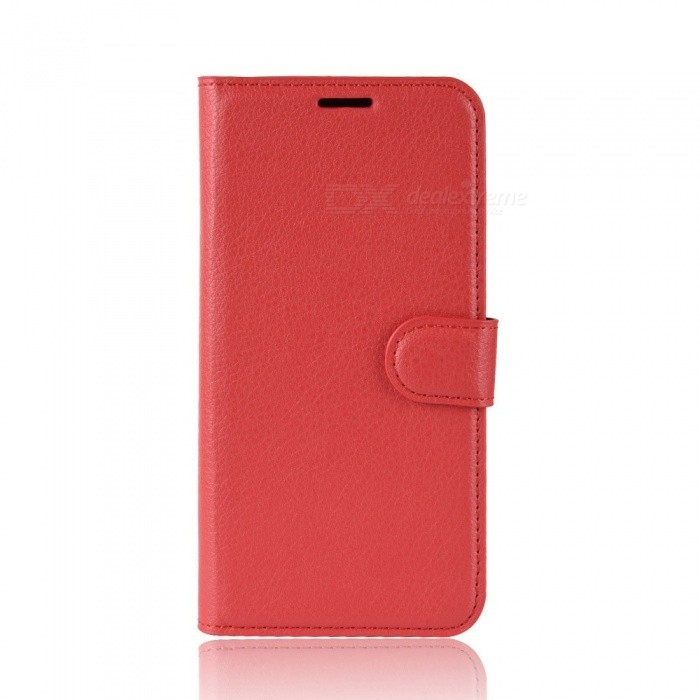 Lychee Pattern Protective Flip Open Case For Xiaomi 8 8 Se, Cell Phone Full Body Case Cover With Stand, Card Slots Red/xiaomi 8
