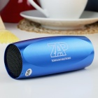 Portable Aluminum Alloy Casing USB Rechargeable TF Slot MP3 Player Speaker with FM - Blue (2 GB)