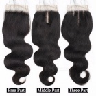 4 Bundles Malaysian Body Wave Human Hair With Closure, Swiss Lace 100% Non Remy Human Hair Lace Closure 16 16 18 18 closure14Middle Part